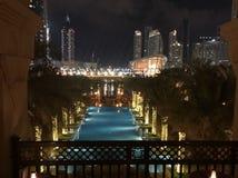 迪拜从宫殿的大阳台视图 库存图片