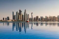 迪拜全景 免版税库存照片