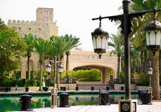 迪拜公园 免版税库存照片