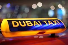迪拜出租汽车 库存照片