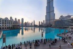 迪拜商城和Burj khalifa 免版税图库摄影