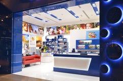 迪拜商城的,街市的迪拜, 2015年5月6日的阿联酋摄影商店 库存图片