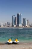 迪拜喷气机滑雪 库存照片