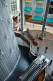 迪拜喷泉购物中心 库存照片