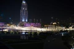 迪拜喷泉 免版税库存照片