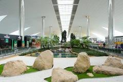 迪拜国际机场内部 库存照片