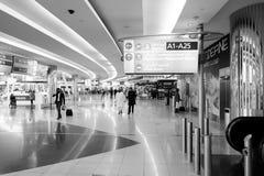 迪拜国际机场内部 免版税图库摄影