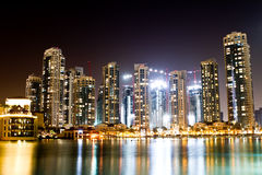 迪拜在晚上 图库摄影