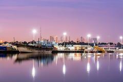 迪拜地平线小河阿拉伯联合酋长国 免版税库存图片