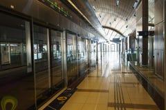 迪拜地铁内部 免版税库存照片