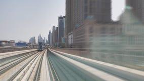 迪拜地铁当世界` s充分地长期自动化地铁网络75 km 股票视频