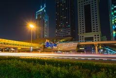 迪拜地铁当世界` s充分地长期自动化地铁网络75 免版税库存照片