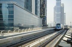 迪拜地铁火车 免版税库存照片