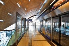 迪拜地铁终端 库存图片