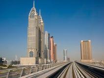 迪拜地铁 免版税库存照片