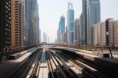 迪拜地铁 库存照片
