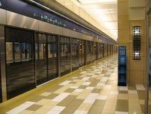 迪拜地铁 免版税图库摄影