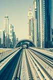 迪拜地铁 图库摄影