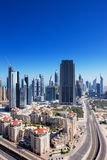 迪拜增光与扣人心弦的结构 免版税库存图片