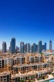 迪拜增光与扣人心弦的结构 免版税图库摄影