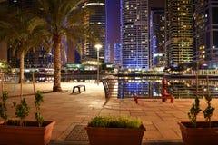 迪拜夜 免版税库存图片