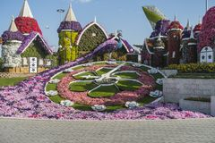 迪拜奇迹庭院 库存照片
