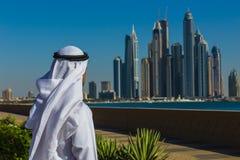 迪拜小游艇船坞。阿拉伯联合酋长国 免版税库存图片