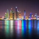 迪拜小游艇船坞。 免版税库存照片