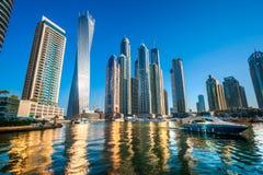 迪拜小游艇船坞。 图库摄影