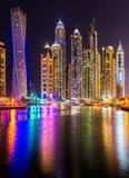 迪拜小游艇船坞。 库存照片