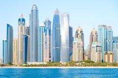 迪拜小游艇船坞在一个夏日,阿联酋, 26 04 18 图库摄影