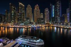 迪拜小游艇船坞在阿拉伯联合酋长国 免版税库存照片