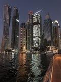 迪拜小游艇船坞在 免版税库存照片