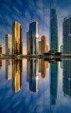 迪拜小游艇船坞地平线,迪拜,阿联酋 库存图片