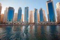 迪拜小游艇船坞地平线 图库摄影