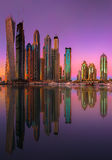 迪拜小游艇船坞地平线 库存图片