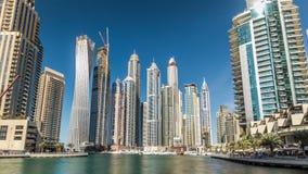 迪拜小游艇船坞看法在迪拜耸立在天时间timelapse hyperlapse 影视素材