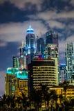 迪拜小游艇船坞都市风景,阿拉伯联合酋长国 图库摄影