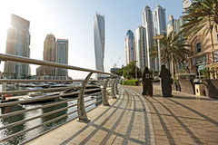 迪拜小游艇船坞阿拉伯联合酋长国 库存图片
