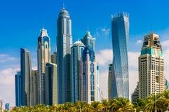 迪拜小游艇船坞,阿拉伯联合酋长国 库存图片
