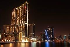 迪拜小游艇船坞购物中心 库存照片