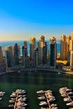迪拜小游艇船坞 免版税库存照片