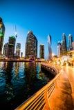 迪拜小游艇船坞 图库摄影