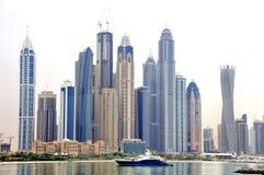 迪拜小游艇船坞 免版税库存图片