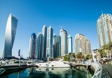 迪拜小游艇船坞 免版税图库摄影
