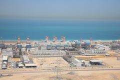 迪拜工厂用品水 库存照片