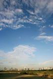 迪拜市地平线 免版税库存照片