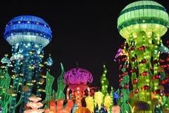 迪拜庭院焕发在迪拜,阿拉伯联合酋长国 免版税库存图片