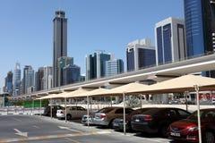 迪拜批次停车 免版税库存图片