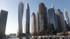 迪拜摩天大楼大厦小游艇船坞  免版税库存照片
